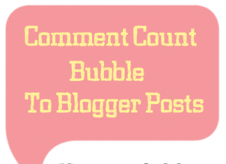 How To Add Comment Counter In Blogger Comments?